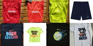 NIKE BOYS SIZE 4T ~ SHORTS ~ T-SHIRTS ~ DRI-FIT ~ SUMMER 12 PIECES ~ NEW W TAG