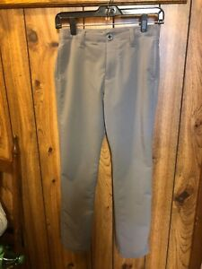 Boys Under Armour Gray Golf Pants Size Youth Medium Excellent Condition