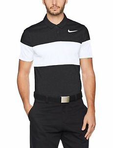 NIKE Closeout Modern Fit Transition Dry Block Men's Golf Polo (Black Medium)