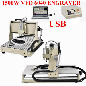 3 Axis 6040 Router Engraver Engraving Carving Cutter Machine 1500W VFD USB