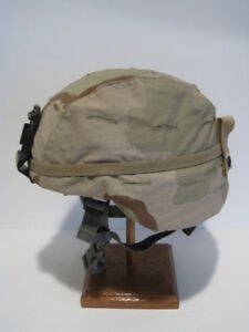 LIKE NEW  MSA LARGE ACH HELMET WITH NEW REVERSIBLE CAMO COVER AND RHINO MOUNT