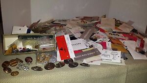 Huge lot Designer Brands Replacement buttons ~threads metal gold rhinestone
