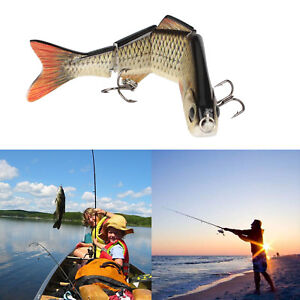 Bass Fishing Lures Topwater Multi Jointed Trout Crankbaits Life Like Swimbaits