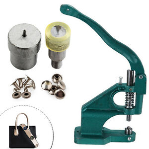 Hand Press Machine and Two Piece Single Cap Tubular Rivets Tool Die Setting