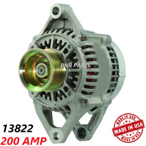 200 AMP 13822 Alternator Dodge Jeep High Output HD NEW Performance Made in USA