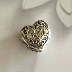 Authentic Pandora Sterling Silver Enchanted Heart Clip Charm #797024
