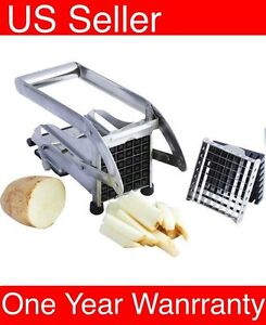 Stainless Steel French Fry Cutter Potato Vegetable Slicer Chopper 2 Blades $15.98