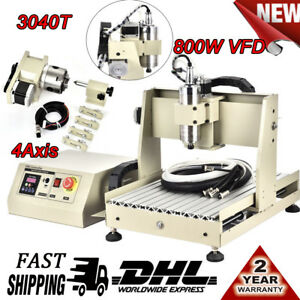 CNC Router 4AXIS 3040 Engraver 800W VFD Spindle Milling Mahcine Cutter Carving