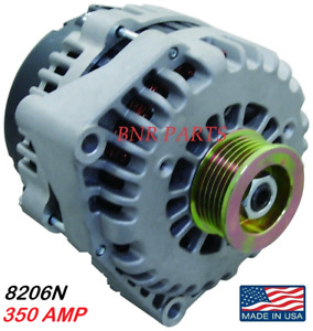 350 AMP 8206N ALTERNATOR CHEVY CADILLAC GMC High Output HD PERFORMANCE USA MADE