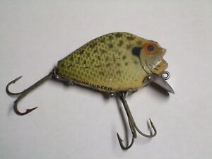 VINTAGE HEDDON PUNKINSEED FISHING LURE 2 12 INCH WOOD CRAPPIE