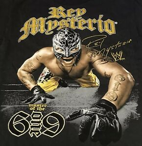 Rey Mysterio WWE World Wrestling Entertainment Graphic Tee T Shirt Mens SM