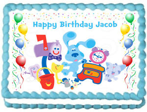 BLUES CLUES Party Edible Cake topper image