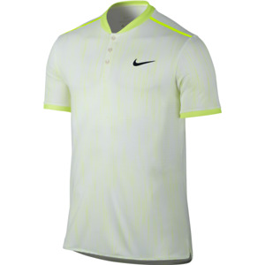 Nike Dri Fit Court Dry Premier Advantage Volt Match Polo shirt men elite tennis