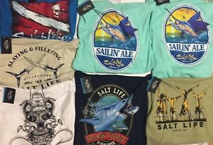 Salt Life Long Sleeve Mens Shirts LRG XL Buy up to 3 and only pay shipping for 1 $23.97