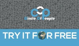 Domain Name CIRCLE OF PEOPLE Sale including custom Website