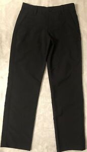 Boys Youth Under Armour Golf Loose Black Pants Size 10