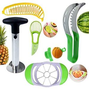 Fruit Slicer Peeler Set Of 6 Watermelon Slicer Pineapple Corer Apple Banana