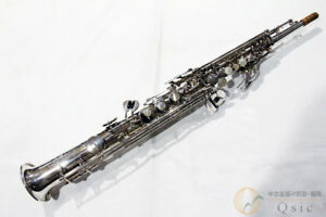 YAMAHA YSS-62S Soprano Saxophone Unusual Silver Plated From Japan Used