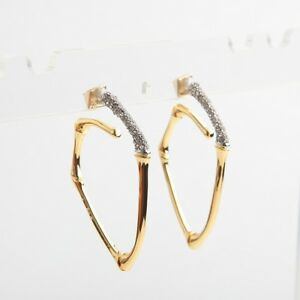 Alexis Bittar Gold Snake Hoop Earrings New