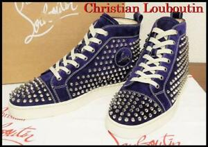 Christian Louboutin Mens Sneakers Louis Studs Color: Purple suede Size US: 8