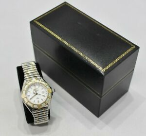 Breitling J Class 18K Yellow Gold 2Tone Stainless Steel Bullet Band Watch D52063