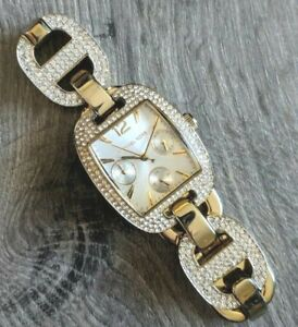 Unique Women's MICHAEL KORS MK3234 Emma Goldtone Pave Crystal Bracelet Watch