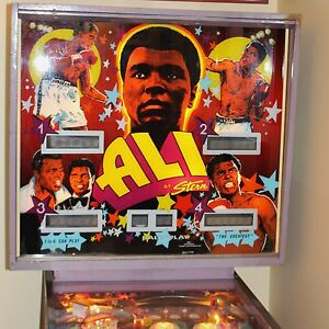 Muhammad Ali Pinball Machine Original Vintage by Stern Co c 1980 ChicagoIL