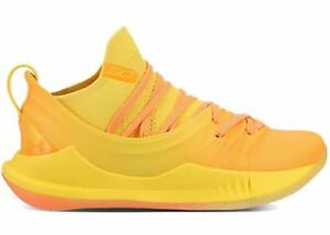 Under Armour Curry 5 Yellow Orange Asia Tour PE Size 12. 3021708-700 Warriors