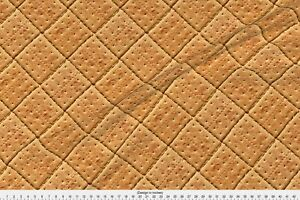 Graham Crackers Cookies Biscuits Fabric Printed by Spoonflower BTY