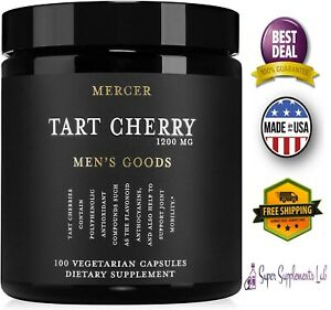 TART CHERRY EXTRACT 2400 mg 200 Capsules Antioxidant Promote Joint Health