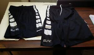 NIKE BOY'S DRY fit 2 pair pre owned basketball shorts one medium one large  B01