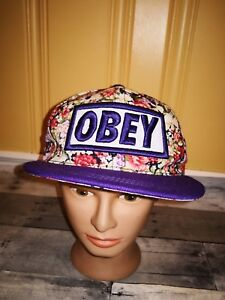 Obey Propaganda RARE TROPICAL FLOWERS Hat Adjustable SNAPBACK