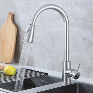 High-Quality Kitchen Faucet Pull Out Sprayer Single Hole Swivel Sink Mixer Tap