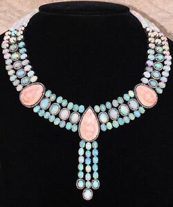 Carved ANGEL SKIN Coral CHOKER Necklace 14k Gold Diamond 925 Silver Opal Jewelry