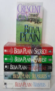 Belva Plain 6 Paperback Book Lot: Secret, Harvest, Treasures, Whispers, Crescent