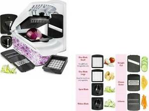 Vegetable Chopper Mandoline Slicer Dicer Onion Food Pro Spiralizer Veggie Cutter