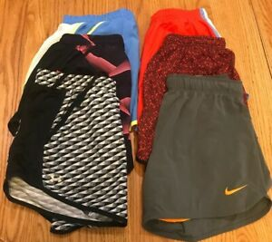 Nike Under Armour XS Lot Of 6 Women Athletic Shorts Preowned Running