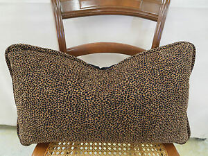 King Hickory Fabric Kenyan Safari Lumbar Pillow Feather Down 23 In x 13 In