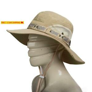 Fashion Summer Outdoor Sun Protection Cap Wide Brim Summer Hat for Fishing Hikin