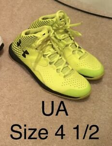 Under Armour Youth Basketball Sneakers Mid Top Size 4 12 4.5 Neon Boys Girls