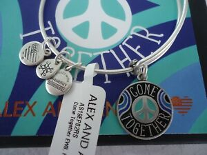 Alex And Ani COME TOGETHER Lennon Russian Silver Charm New W Tag Card amp; Box $21.90