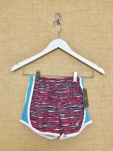 Girls Nike Tempo Shorts Size 6 6X Pink Blue White Running Workout Lined 36A997
