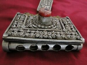 394 Antique Tibetan Khampa Nomad's Bullet Case - RARE item collected from Tibet