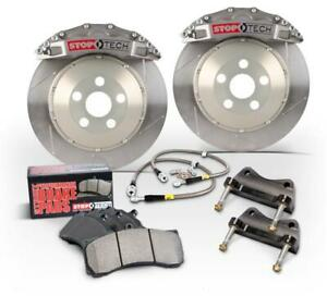 StopTech Rear Big Brake Kit Trophy ST-22 Calipers Zinc Slotted for 99-02 Audi S4