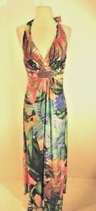 Womens Large Tropical Designer Dress NWT by Miss Morena Size L Winter Cruise