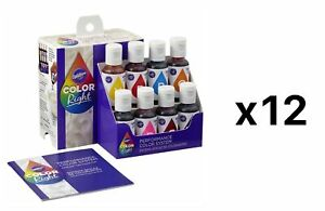 Wilton Color Right Performance Food Icing Fondant Batter Color System (12-Pack)