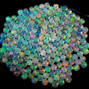 3X3 MM NATURAL ETHIOPIAN WELO FIRE OPAL ROUND BALL BEADS DRILLEDUNDRILLED