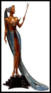 ERTE Signed BRONZE Sculpture ASTRA Original Romain de Tirtoff Art Costume Design