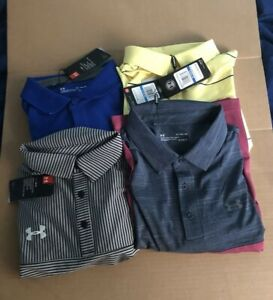 Under Armour Men's Golf Polo Lot (4) SIZE X-LARGE NEW WITH TAGS FREE SHIPPING