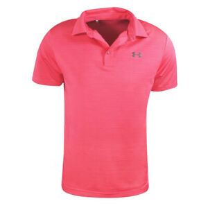 NEW UNDER ARMOUR SCRIPTING PLAYOFF ROUGH STRIPE GOLF POLO